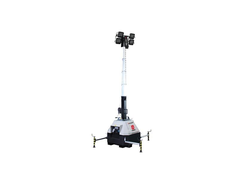 Lichtmast X-Mast 4 x 160 Watt LED