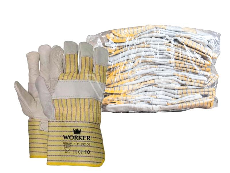 Werkhandschoen Worker nerfleder | 10 paar