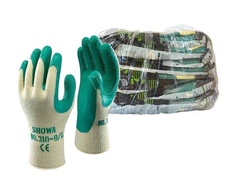 Werkhandschoenen Showa 310 Grip groen 10 paar