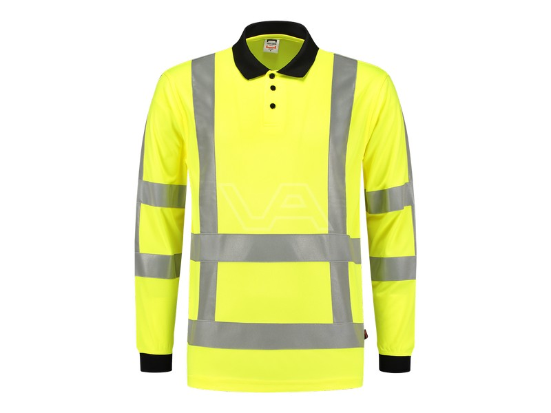 Poloshirt Tricorp RWS fluor geel lange mouw