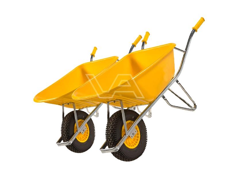 Kruiwagen Altrad Fort SMB100 geel kunststof | 2 stuks