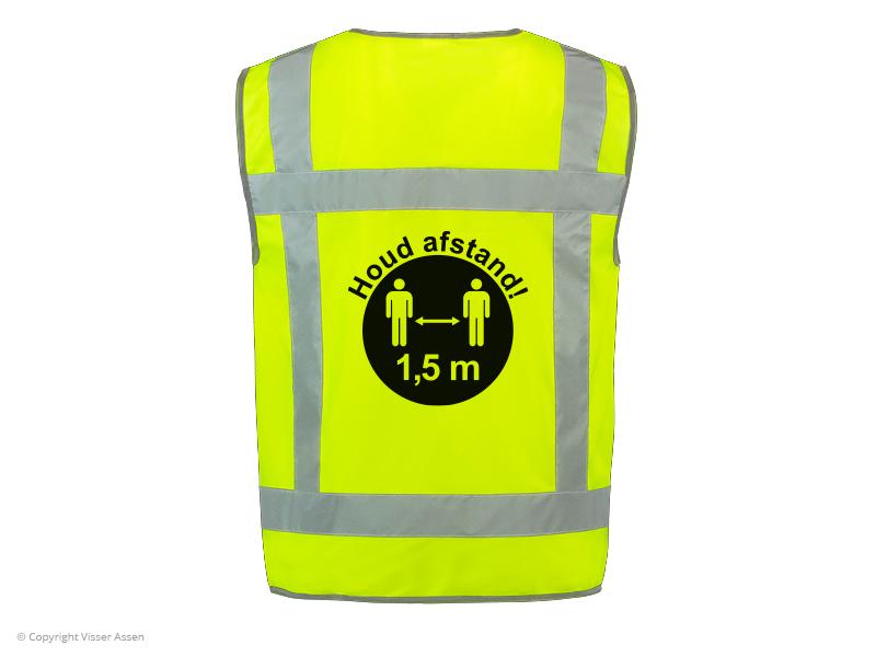 RWS veiligheidsvest Houd Afstand geel