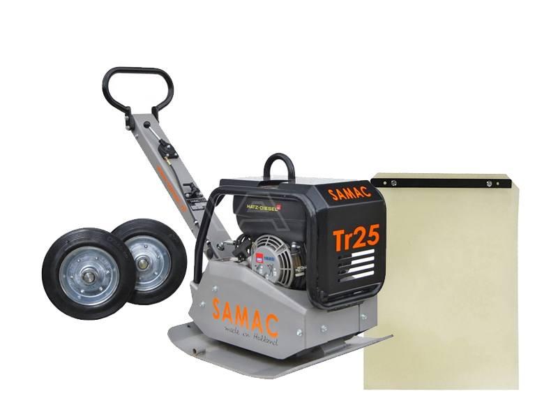 Trilplaat Samac TR25 Diesel met trilmat en wielstel
