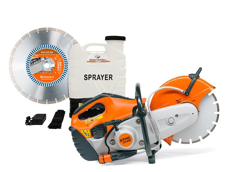 Bandenzaag Stihl TS410 met WaterTender Compact
