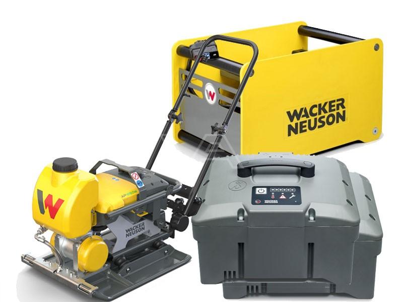 Accu-trilplaat Wacker AP 1850we Asfalt + 2x accu + snellader