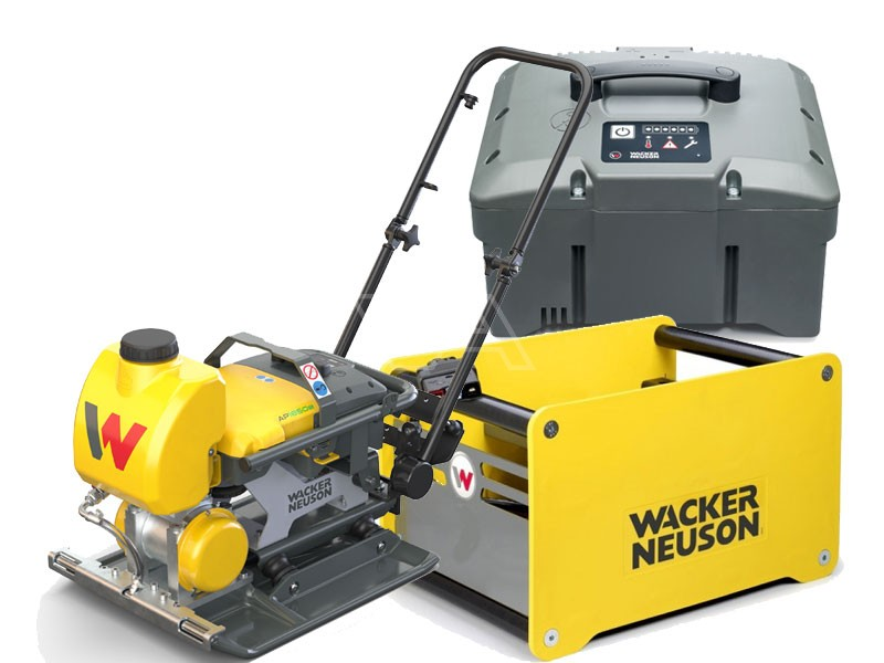 Accu-trilplaat Wacker AP 1850we Asfalt + accu + snellader
