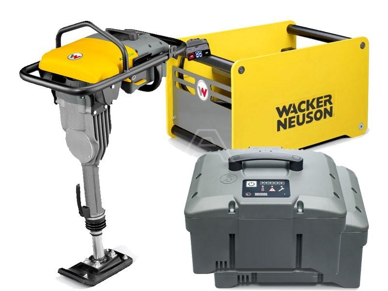 Trilstamper accu Wacker AS 30e + 2 x accu + snellader