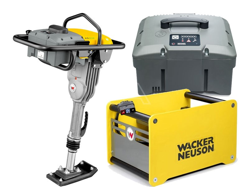 Trilstamper accu Wacker AS 30e + accu + snellader