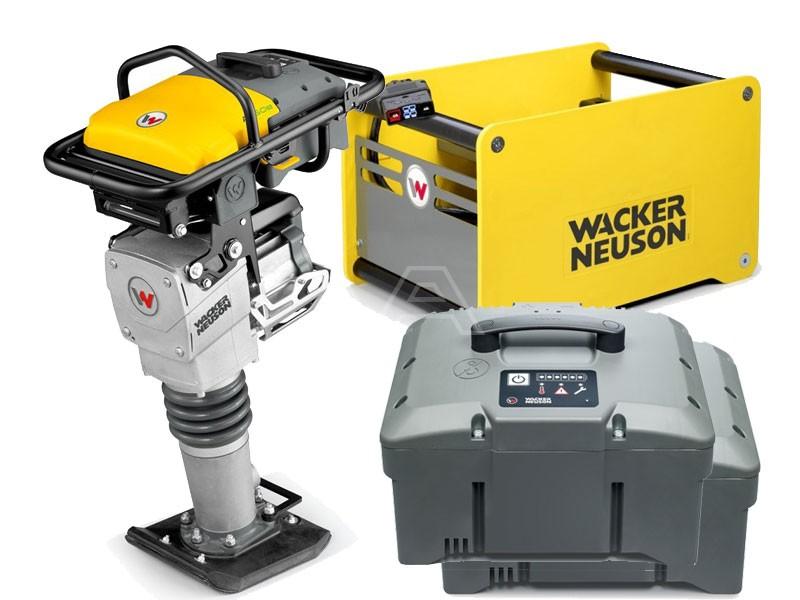 Trilstamper accu Wacker AS 50e + 2x accu + snellader