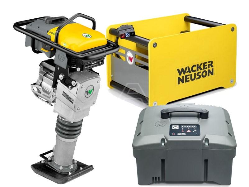 Trilstamper accu Wacker AS 60e + accu + snellader