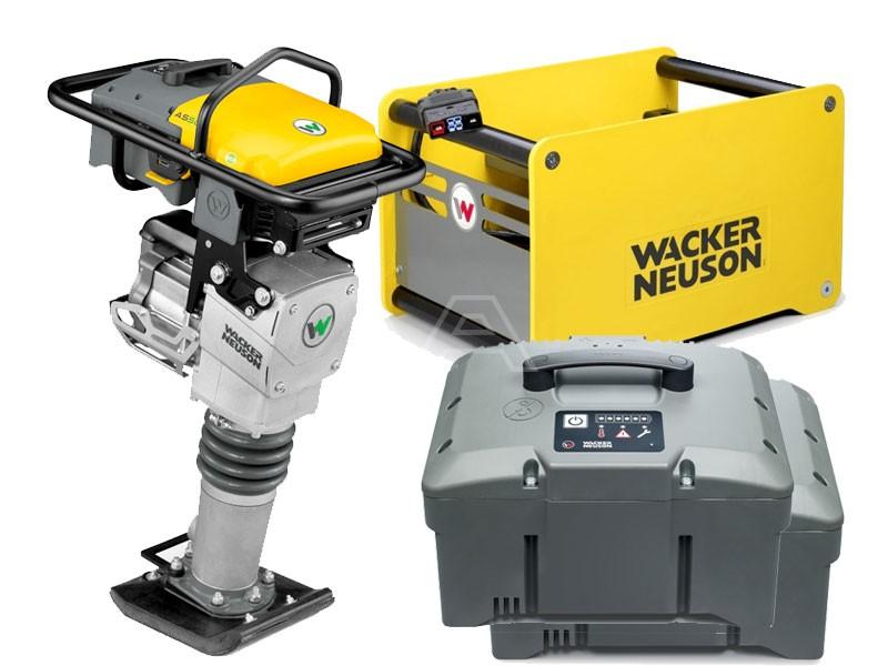 Trilstamper accu Wacker AS 60e + 2 x accu + snellader