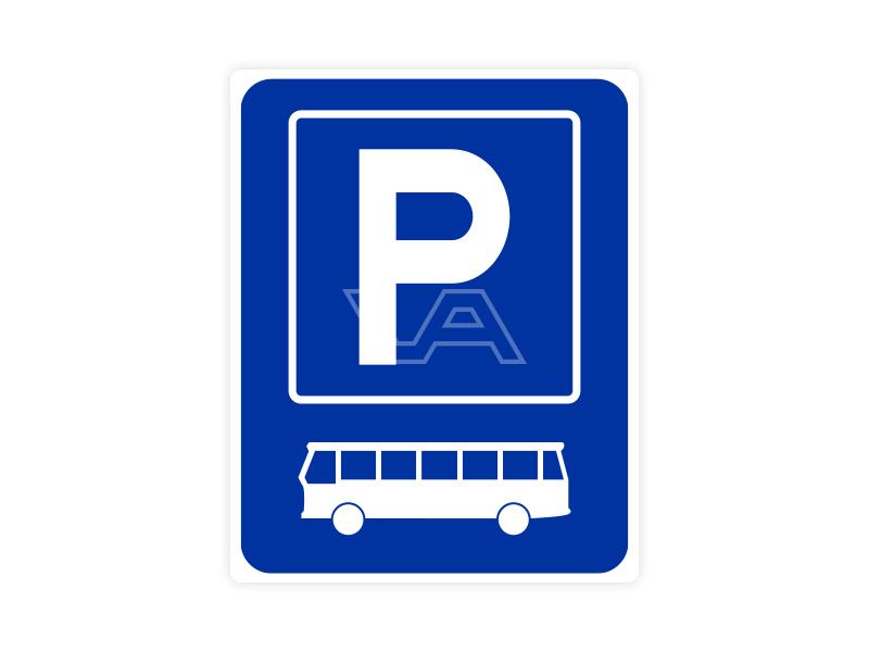 Parkeerbord IB64 bord dor lak 20 x 25 P Autobus