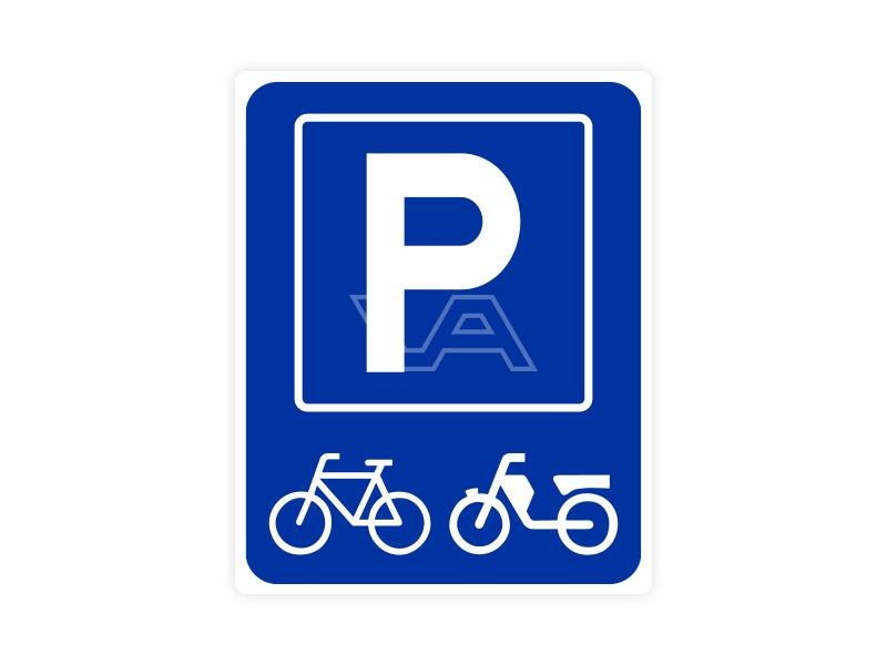 Parkeerbord IB59 bord dor lak 20 x 25 P (Brom-)fiets