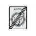 Verkeersbord Einde ZONE Vuurwerkverbod