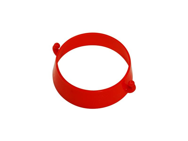 Verkeerskegel kettingring kunststof rood