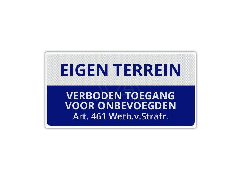 Verkeersbord Eigen Terrein ET03 40 x 20 cm
