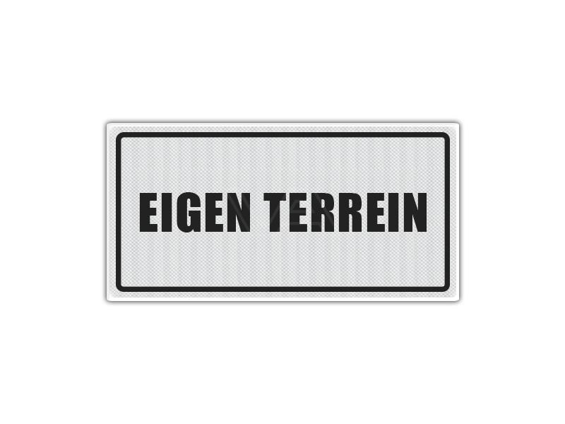 Verkeersbord Eigen Terrein ET02 40 x 20 cm