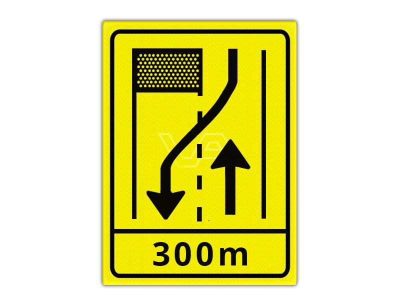 Omleidingsbord WIU T31-2r + ondertekst 300m