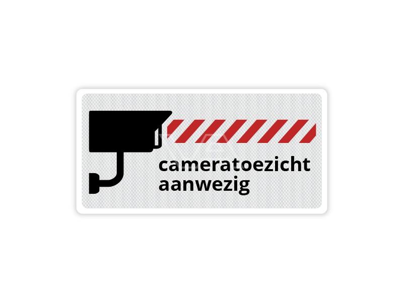Verkeersbord Cameratoezicht CB12 40 x 20 cm