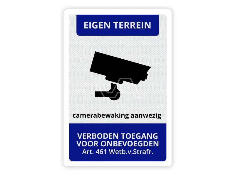 Verkeersbord Camerabewaking aanwezig CB07 40 x 60 cm