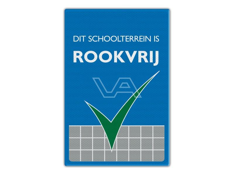 Verkeersbord RV01 - Dit Schoolterrein is Rookvrij