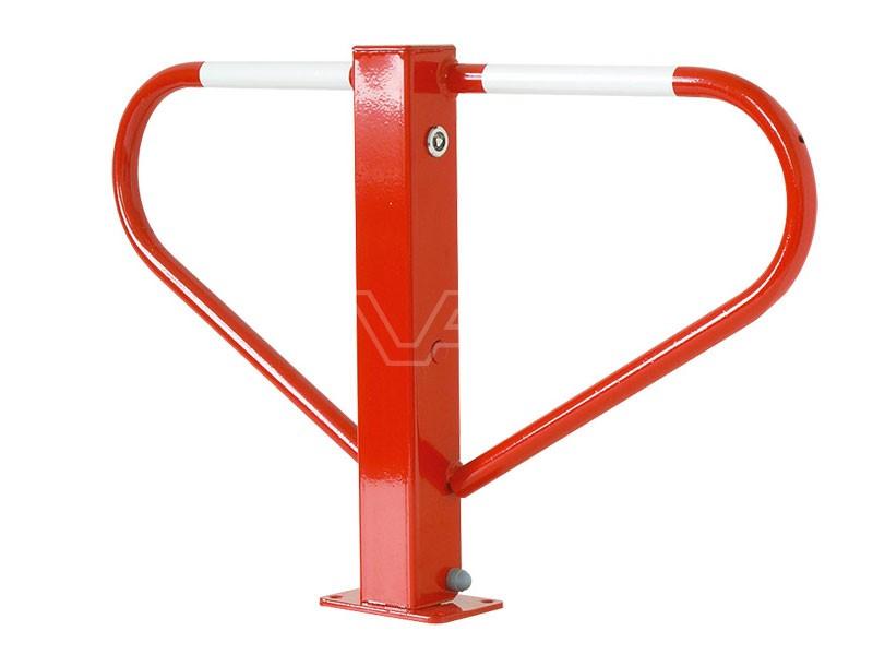 Parkeerbeugel klapbaar rood met driehoekslot