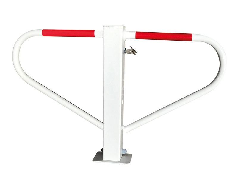 Parkeerbeugel klapbaar wit met cilinderslot