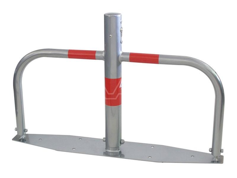 Parkeerbeugel klapbaar gegalvaniseerd met cilinderslot Ø 60mm