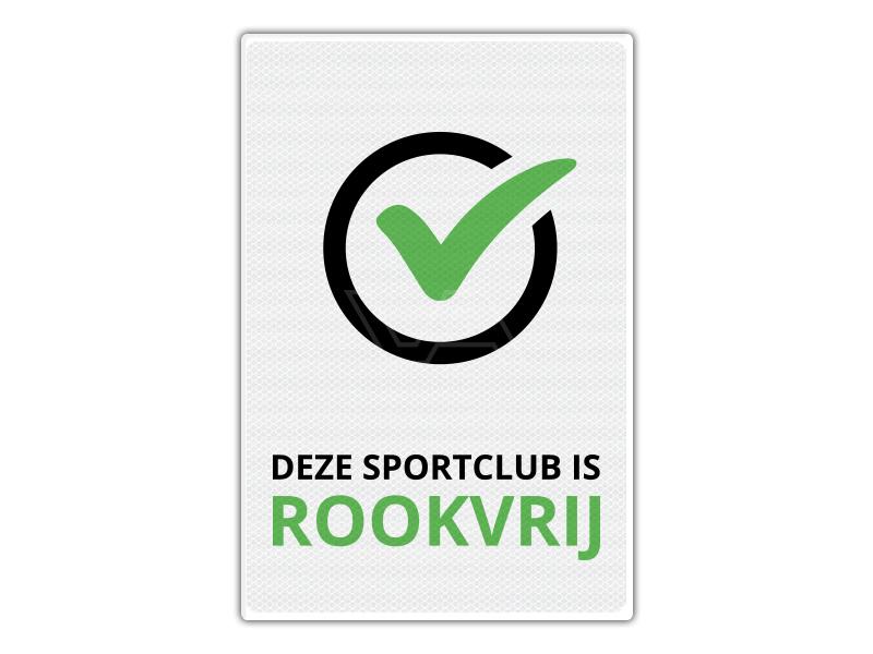 Verkeersbord RV07 - Deze Sportclub is Rookvrij 40 x 60