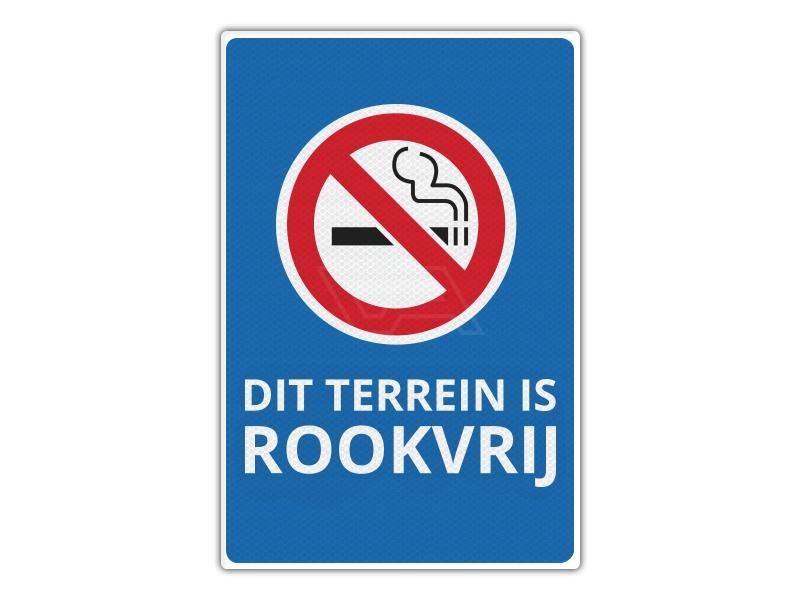 Verkeersbord RV12 - Dit Terrein is Rookvrij 40 x 60