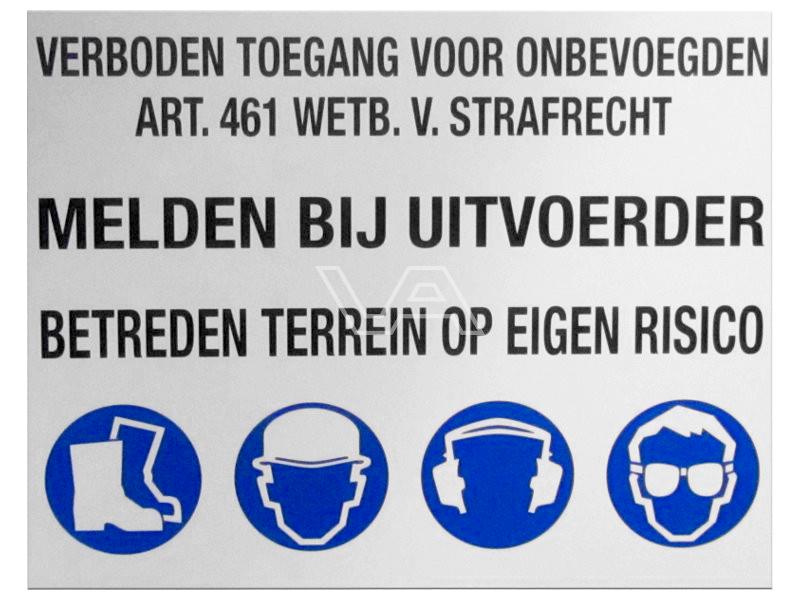 Veiligheidsbord standaard