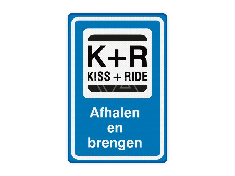 Kiss and Ride verkeersbord KR05 – Afhalen en brengen 40 x 60 cm