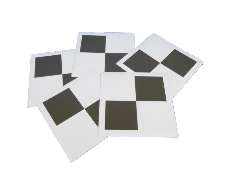 Set à 5 magnetische checkerboard targets