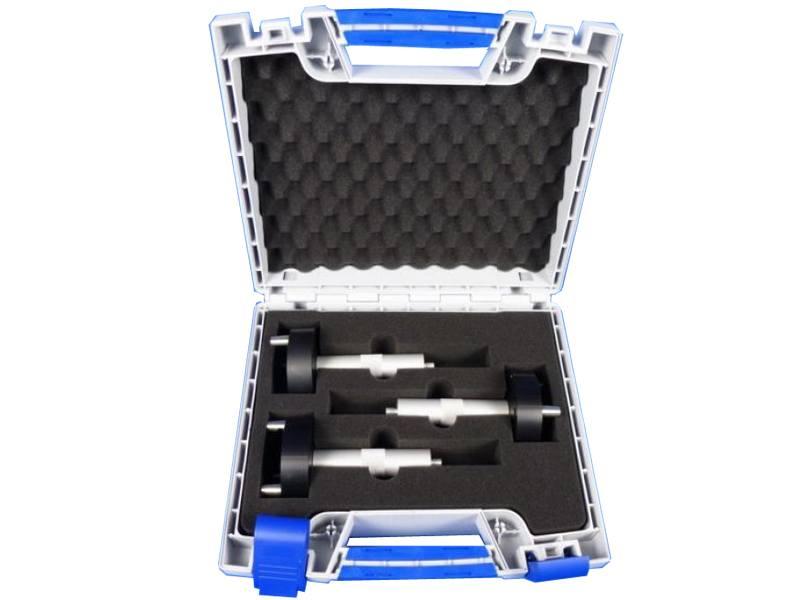 Koffer à 3 spheresteunen voor op statief 145 mm