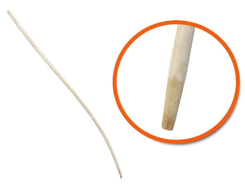 Bezemsteel gebogen essen 170 cm