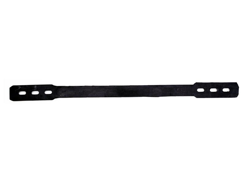 Kniebeschermer riempje rubber lang