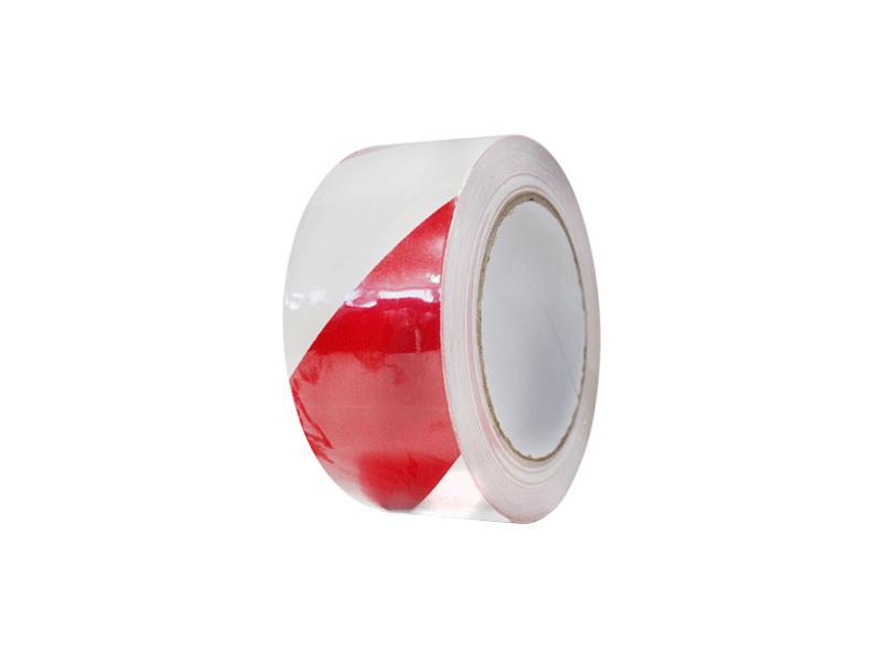 PVC vloermarkeringstape rood-wit