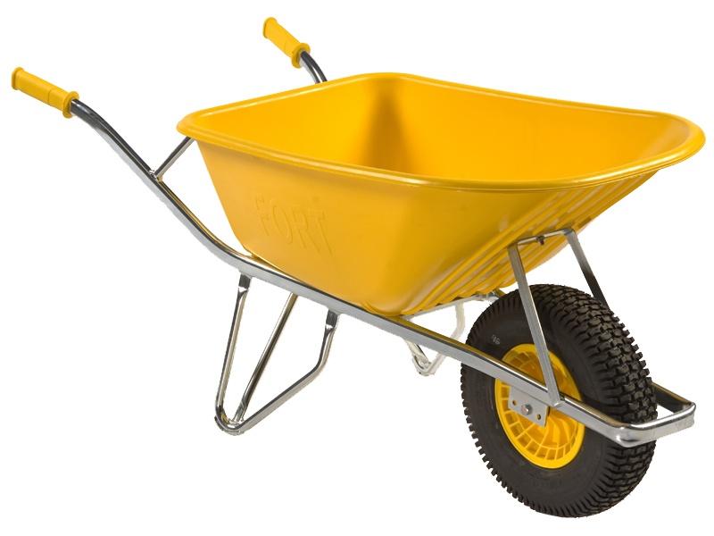 Kruiwagen Altrad Fort SMB100 geel kunststof