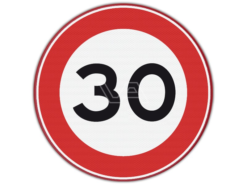 Verkeersbord RVV A01-30 - Maximumsnelheid 30 km