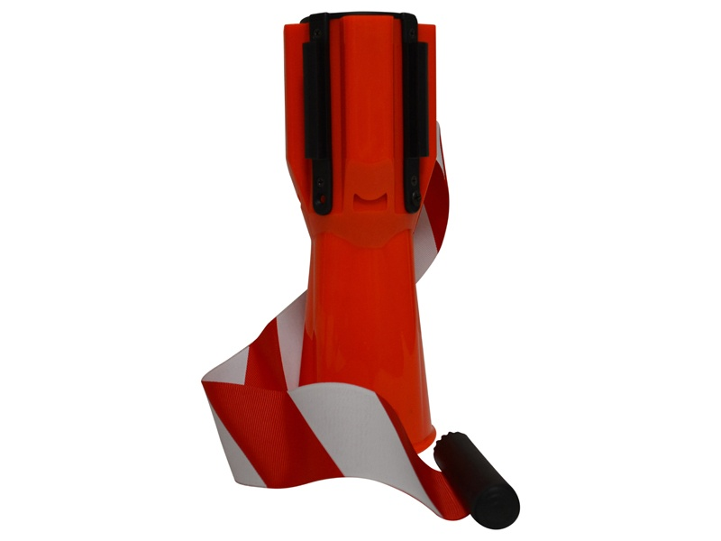 Kegeladapter met lint rood-wit 3 meter