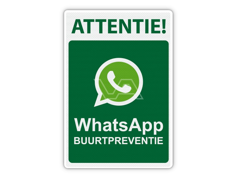 Verkeersbord WhatsApp Buurtpreventie WB01 40 x 60 cm