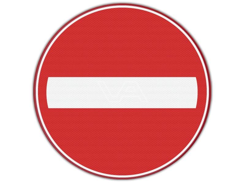 Verkeersbord RVV C02 - Geslotenverklaring voor deze richting