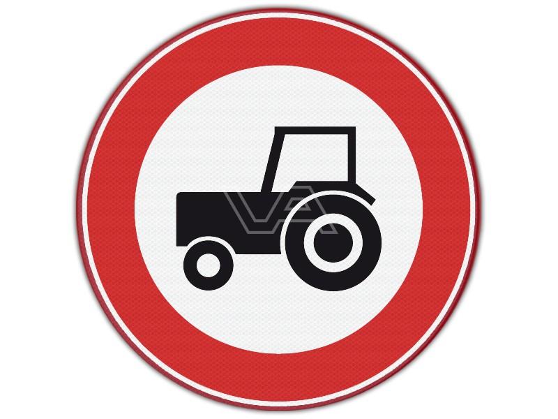 Verkeersbord RVV C08 - Verboden voor landbouwverkeer