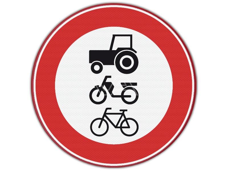 Verkeersbord RVV C09 - Verboden voor langzaamverkeer