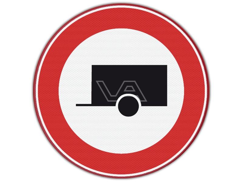 Verkeersbord RVV C10 - Verboden voor aanhangwagens