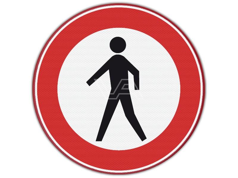Verkeersbord RVV C16 - Verboden voor voetgangers