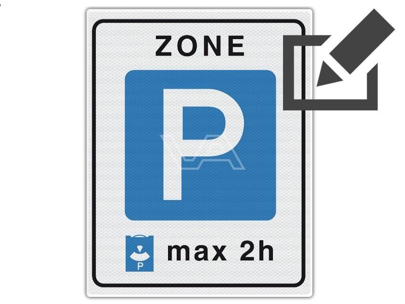 Verkeersbord RVV E10zb - Parkeerschijfzone