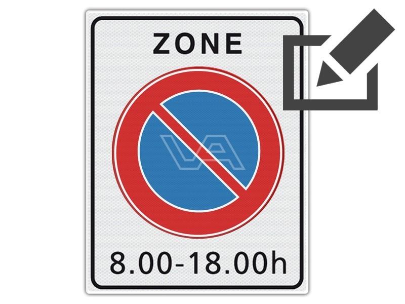 Verkeersbord RVV E01zb - Parkeerverbodzone