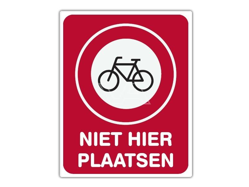 Parkeerbord IB11 - Fietsen niet hier plaatsen - bord dor lak 20 x 25