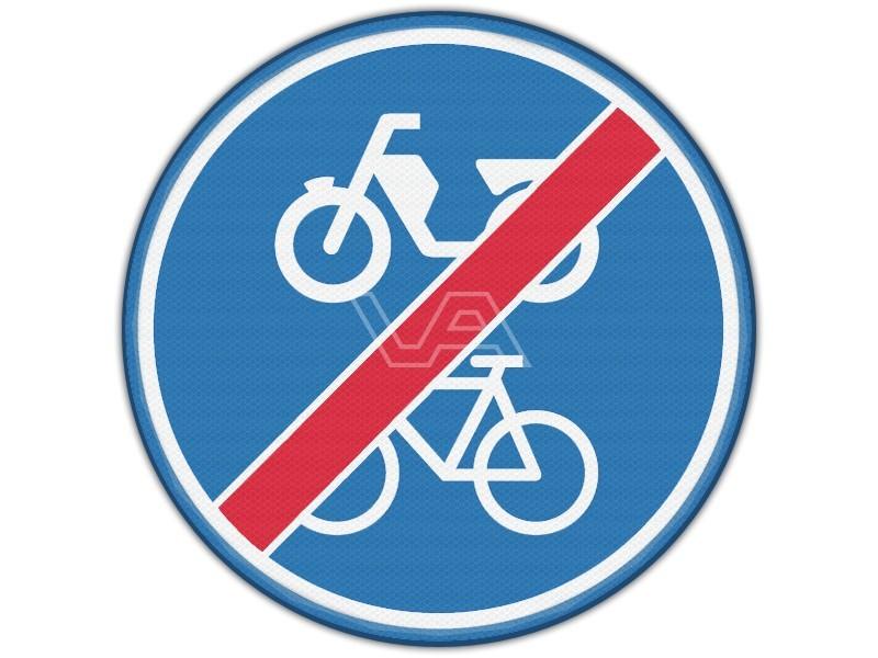 Verkeersbord RVV G12b - Einde (brom-)fietspad